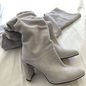 Stuart Weitzman Histyle slouchy suede thigh high